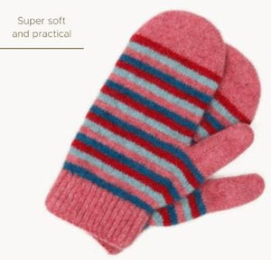 Possum Merino Kids Striped Mittens - Native World