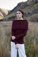Load image into Gallery viewer, Possum Merino Origami Neck Sweater-McDonald Textiles