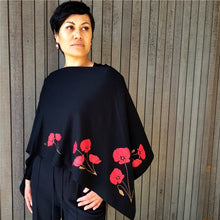 Load image into Gallery viewer, Merino Wool Poppy Poncho - Jill Main