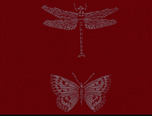 Load image into Gallery viewer, Merino Wool Red Dragonfly Scarf - Kate Watts