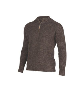 Possum Merino Mount Zip Sweater - MKM Knitwear