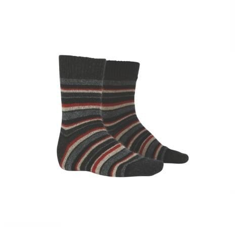 Possum Merino Unisex Striped Sock - MKM Knitwear