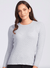 Load image into Gallery viewer, Merino Wool Lace Jumper - Royal Merino