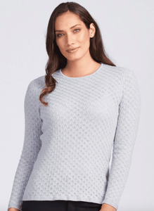 Merino Wool Lace Jumper - Royal Merino