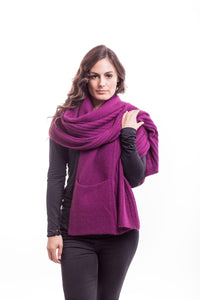 Possum Merino Wrap With Pockets - McDonald Textiles