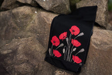 Load image into Gallery viewer, Merino Wool Poppy Design Scarf