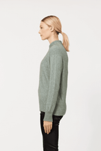 Load image into Gallery viewer, Possum Merino Yolk Neck Cable Jacket - McDonald Textiles