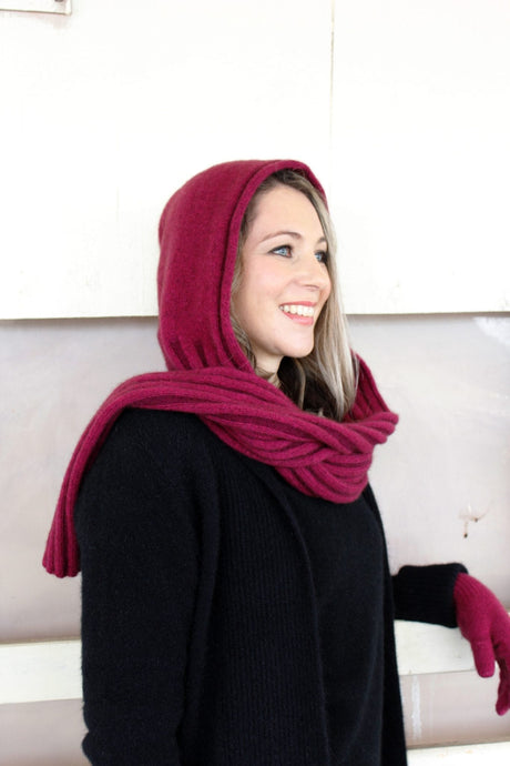 Possum Merino Wool Hooded scarf - Zinity - Possum Boutique
