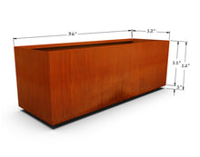 "Load image into Gallery viewer, Corten Steel Rectangular Planter (12"" - 18"" High)"