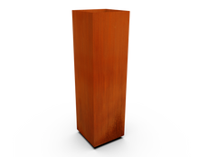 Load image into Gallery viewer, Corten Steel Tall Cube Planter
