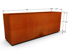 "Corten Steel Rectangular Planter (12"" - 18"" High)"