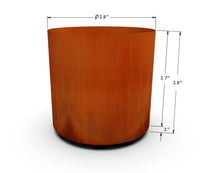 "Load image into Gallery viewer, Corten Steel Round Planter (12"" - 20"" Diameter)"
