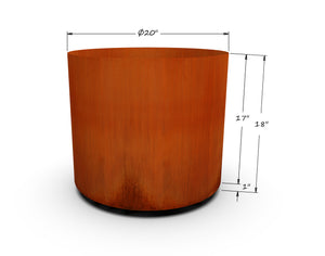 "Corten Steel Round Planter (12"" - 20"" Diameter)"