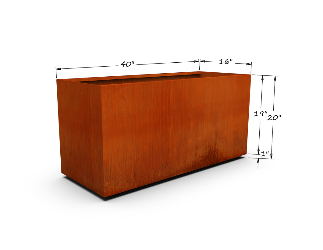 Corten Steel Rectangular Planter (20