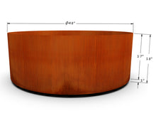 "Load image into Gallery viewer, Corten Steel Round Planter (42"" - 48"" Diameter)"