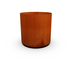 "18"" Diameter Corten Steel Round Planter"
