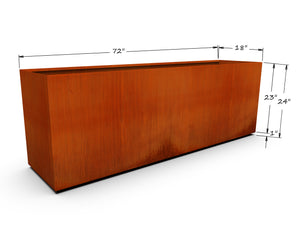 "Corten Steel Rectangular Planter (20"" - 24"" High)"