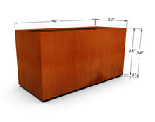 "Load image into Gallery viewer, Corten Steel Rectangular Planter (20"" - 24"" High)"