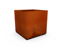 "Load image into Gallery viewer, Corten Steel Square & Cube Planter (30"" - 48"" High)"