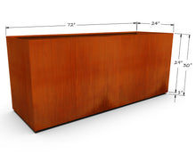 "Load image into Gallery viewer, Corten Steel Rectangular Planter (30"" - 36"" High)"