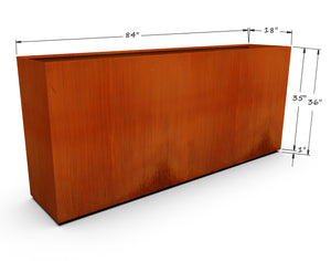 "Corten Steel Rectangular Planter (30"" - 36"" High)"