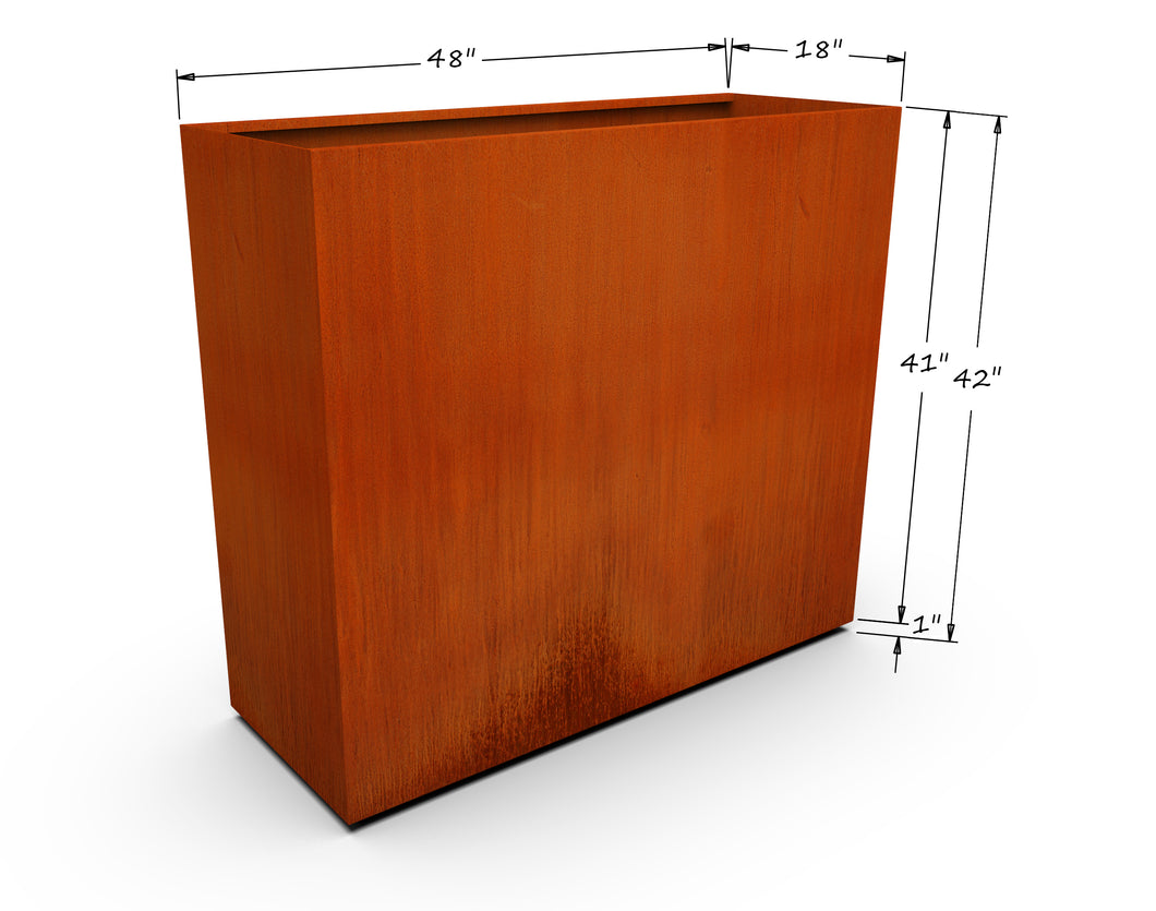 Corten Steel Rectangular Planter (42