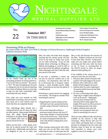 Nightingale Medical Supplies Newsletter 2017 Summer