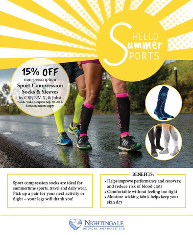 Nightingale Medical Summer 2018 Sport Compression Sock Sale