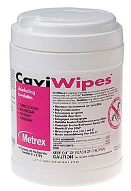 Nightingale Medical CaviWipes Disinfectant Wipes 160 Wipes/Canister 6 Canister/Pack MET-11-1100