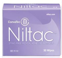 Niltac No Sting Adhesive Remover Wipes (30/box)