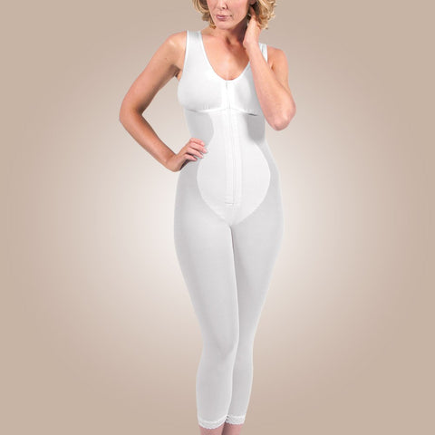 Design Veronique Zippered Below-Knee High-Back Girdle with Bra, B855