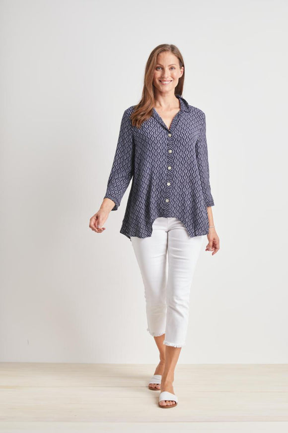 HABITAT  CONTRAST PANEL SWING SHIRT 33731