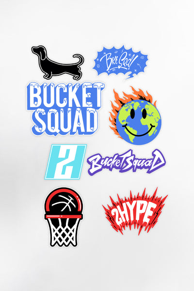 BucketSquad Sticker Pack (8-Pack)