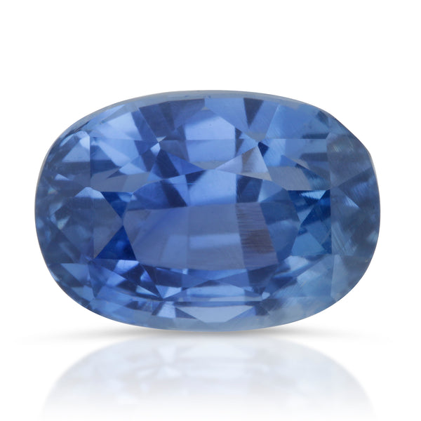 Natural Unheated Blue Sapphire Oval Shape 4.81ct With GIA Report