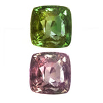 Natural Alexandrite Yellow Greenish Changing to Brownish Purple Cushion Shape 3.05ct With GIA Report