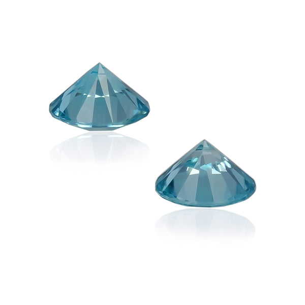 Natural Blue Zircon Pair 3.32 Total Carats