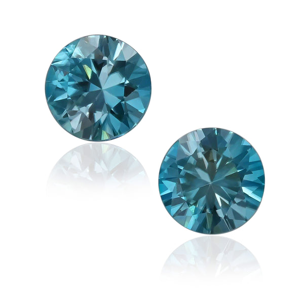 Natural Blue Zircon Pair 4.83 Total Carats