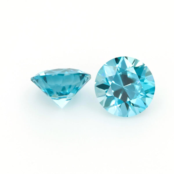 Natural Zircon Blue Color Round Shape 5.60ct