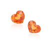 Natural Mandarine Garnet Pair Heart Shape 4.08 Carats