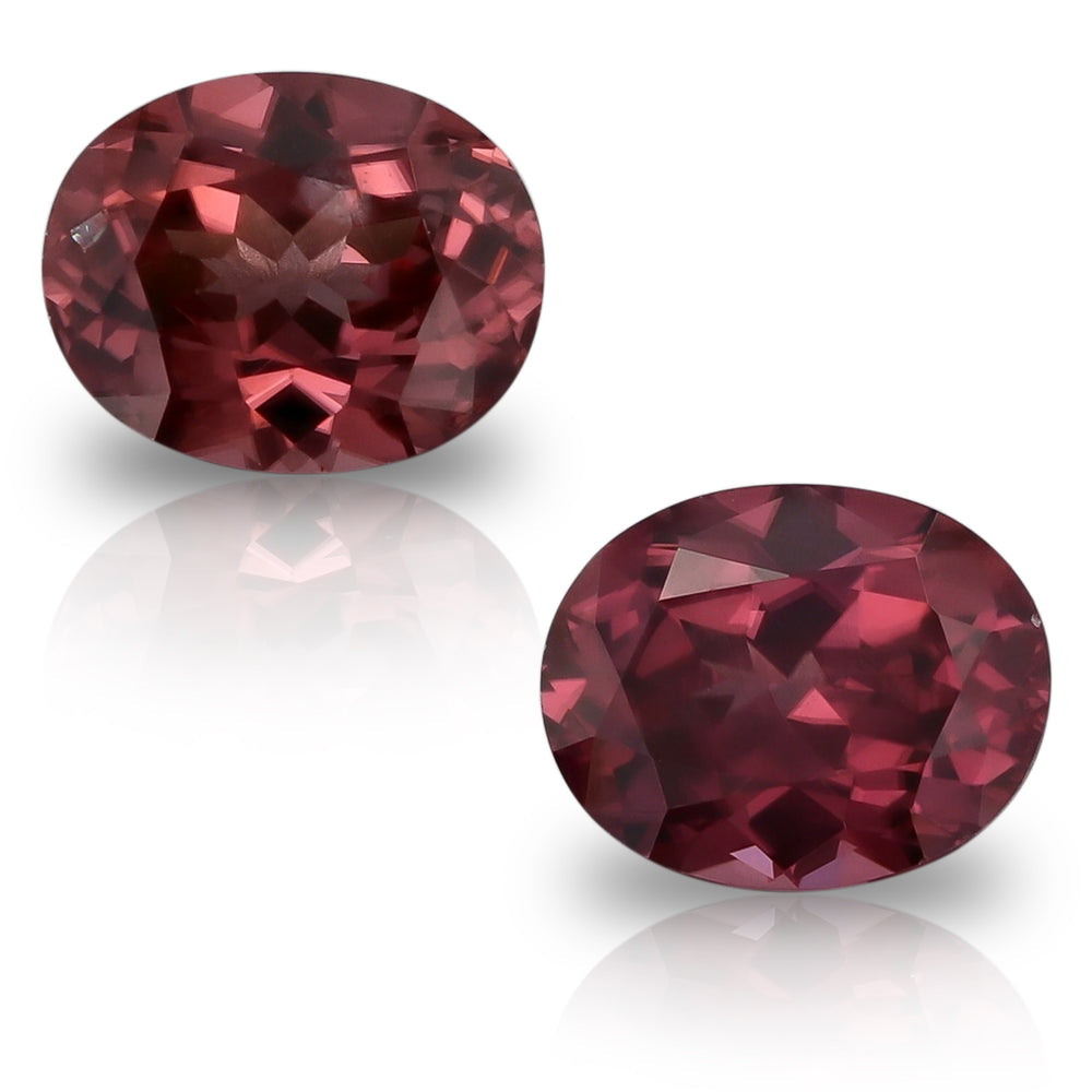 Natural Rose Zircon Pair 5.36 Total Carats