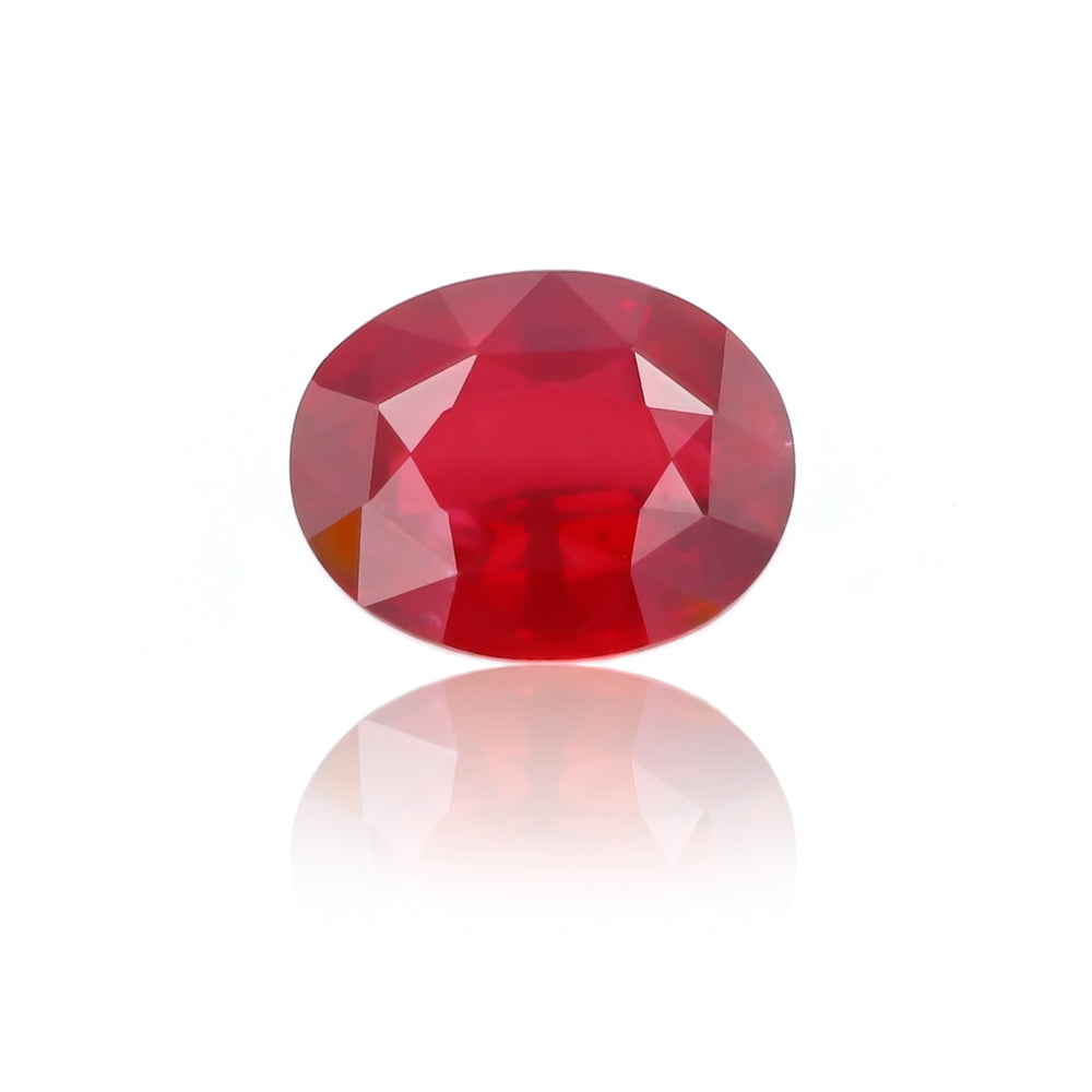 Natural Heated Ruby Oval Shape 4.57 Carats with GRS Report