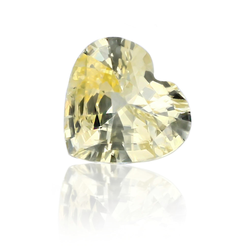 Natural Unheated Yellow Sapphire Heart Shape 3.50 carats