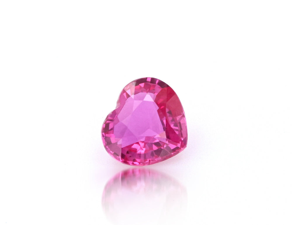 Natural Madagascar Ruby Heart Shape Purplish Red Color 1.52 Carats