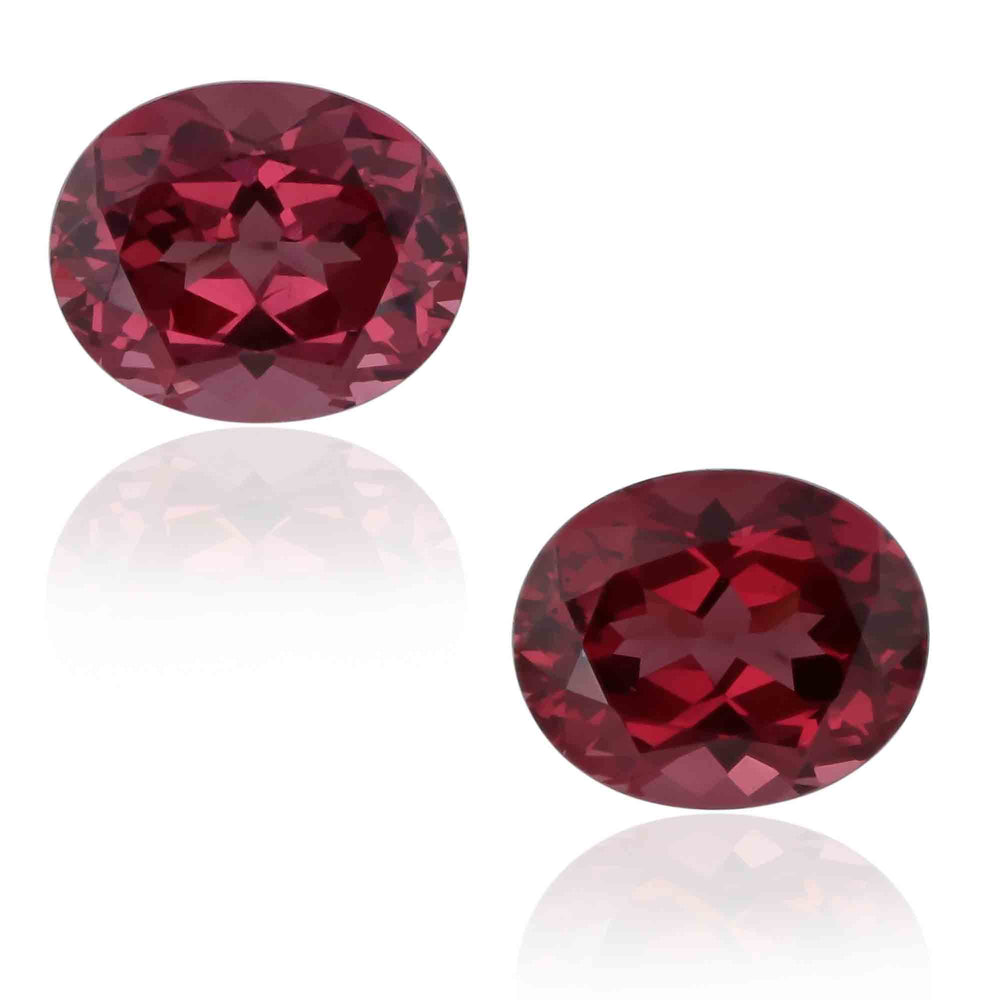 Natural Mahange Garnet Pair 9.86 Total Carats