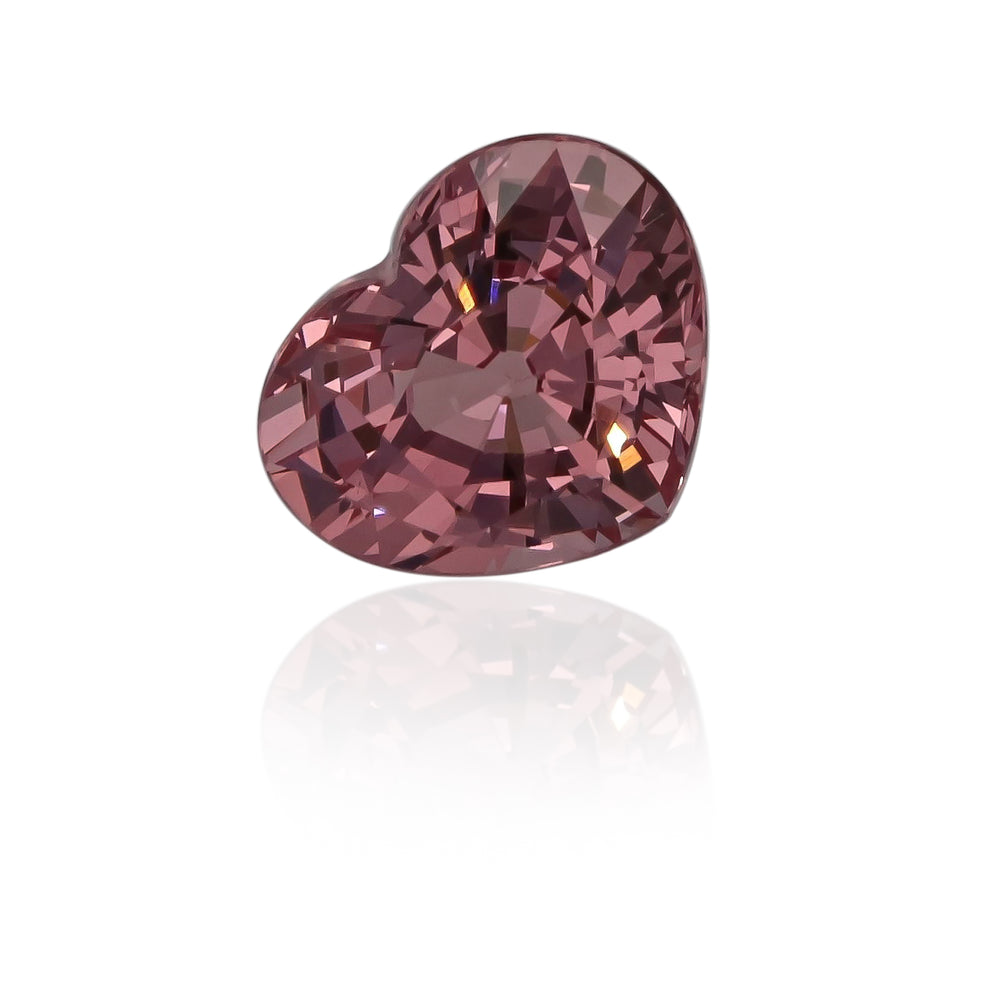 Natural Heart Peach Garnet 5.27 Carats