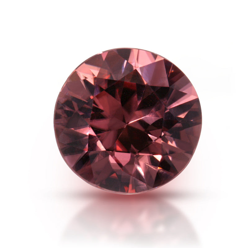 Natural Pink Zircon Round Shape 3.12 Carats