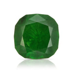 Natural Unheated Russian Demantoid Garnet with 'horse tail' inclusions Cushion shape 3.45ct With GIA Report