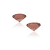 Natural Rose Zircon Pair 4.93 Total Carat Weight