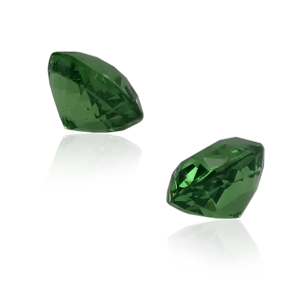 Natural Tsavorite Garnet Pair 4.25 Total Carats