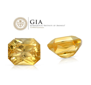 Hello, Sunshine.Yellow Sapphire  25.40ct With GIA Report (Unheated)